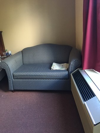 Econo Lodge: 2-person double sofa - NOT!