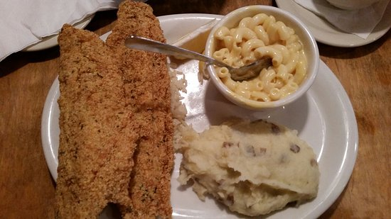 Hillsboro, TX: Catfish and meatloaf