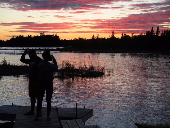 Bear Cove Bed and Breakfast: Sunset over Lake Huron