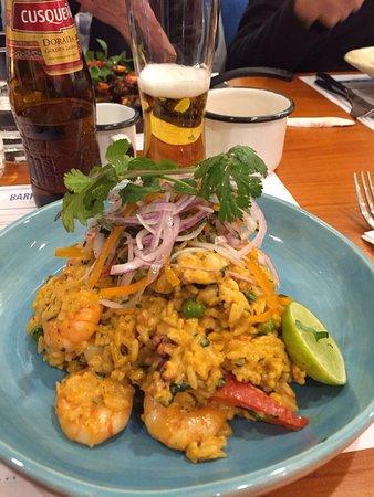 Ceviche Seafood Kitchen: Arroz con mariscos, plato riquísimo y porción abundante