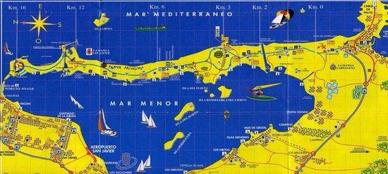Mar Menor, Španielsko: Карта