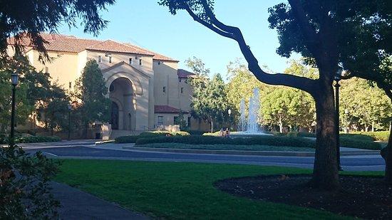 Stanford University : 夕暮れ時のキャンパス内