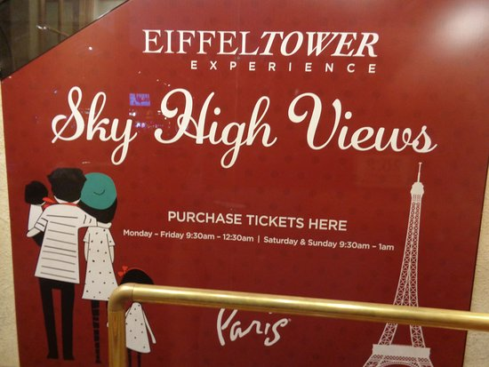 prices and hours Picture of Eiffel Tower Experience at Paris Las
