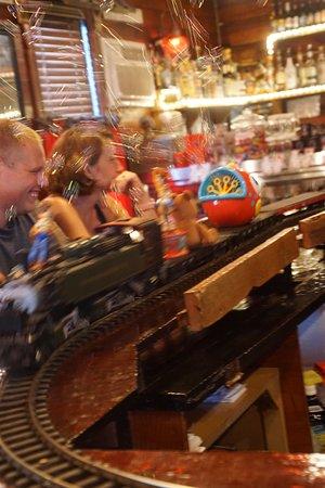 Baileys Harbor, WI: Bubbles ride the rails
