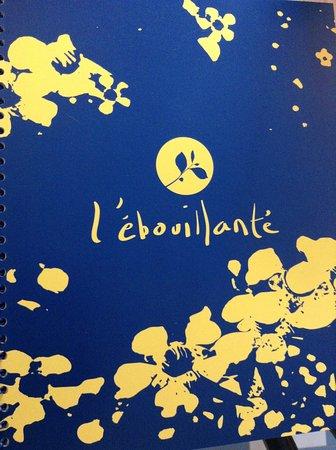 l' Ebouillante: メニューです