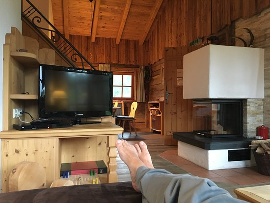 LaPosch Chalet Resort: View from the sofa