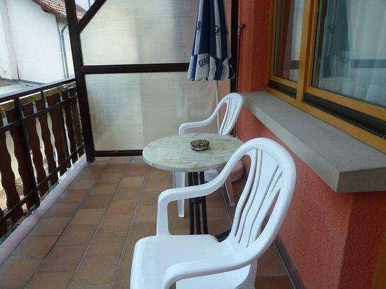 Hotel Brasserie Nagel : Terrasse de la chambre