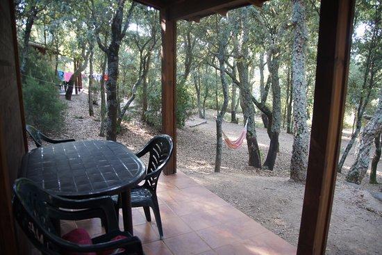 Camping Macanet de Cabrenys : Exterior del Bungalow