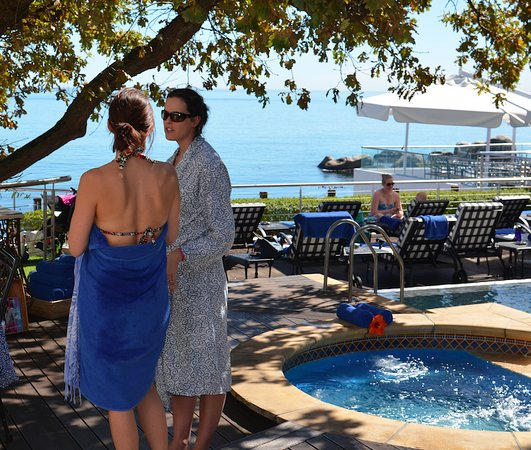Pool area is perfect for pre-Spa booking hang out, or enjoying the view and Cape breeze.