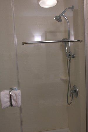 Zero Entry Walk In Shower With Detachable Shower Head Picture Of Sleep Inn Suites Hannibal Tripadvisor