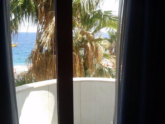 Hotel Albatros: Finestra e balcone dell'albergo