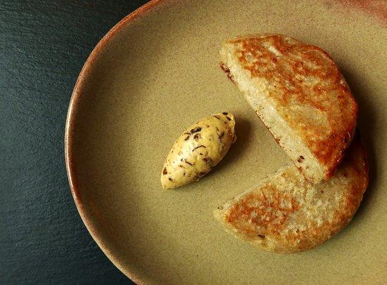 Braithwaite, UK: sourdough crumpets , cep butter