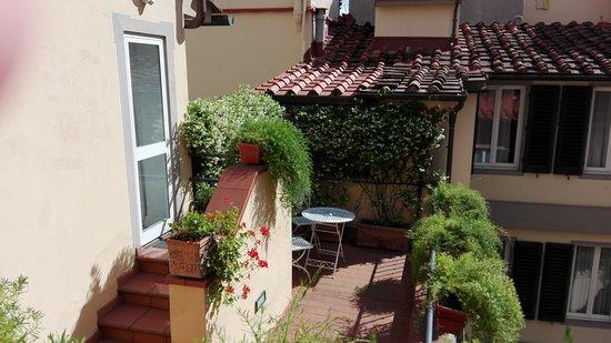 Hotel Rivoli: Balcone interno