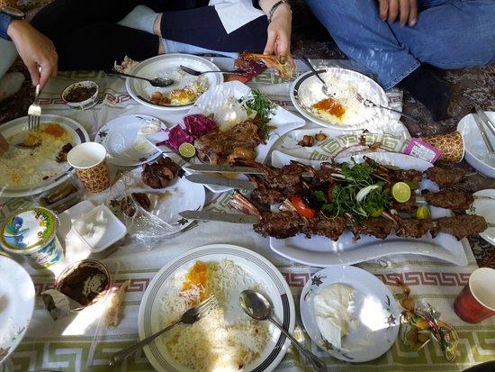 Shandiz, Iran: Shishlik and Mahicheh