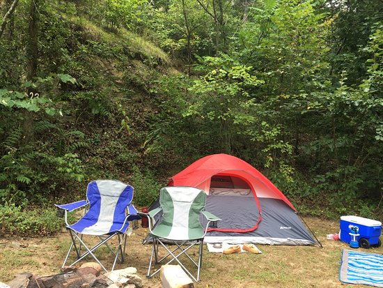 Front Royal, VA: Our recent trip to Gooney Creek Campground. We were in spot 23 and were very close to the creek.