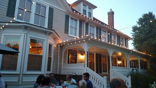 Great Falls, VA: The patio on a beautiful summer evening.