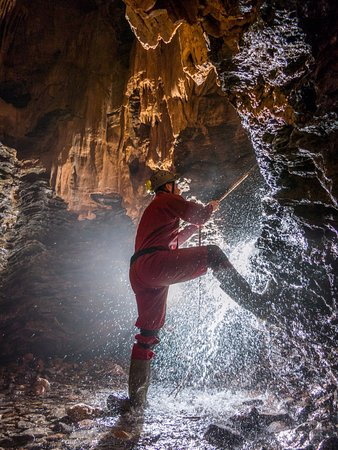 Evercreech, UK: Inside the caves...