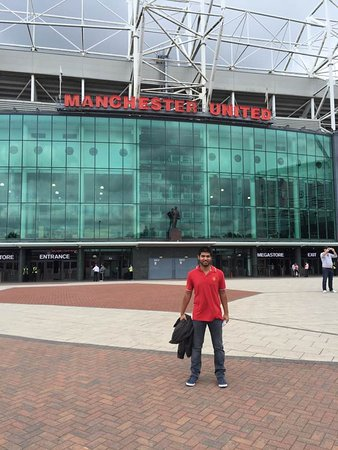 e54ba532473 That is the main entrance to the Manchester United Shop - Picture of ...