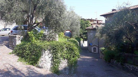 Albachiara B&B: Zufahrt von oben gesehen - links ist der Parkplatz zu sehen