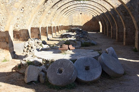 Vamos, Greece: Old Millstones