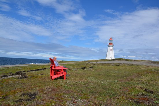 Point Riche Lighthouse: Legendary Red Chairs - Pointe Riche Lighthouse