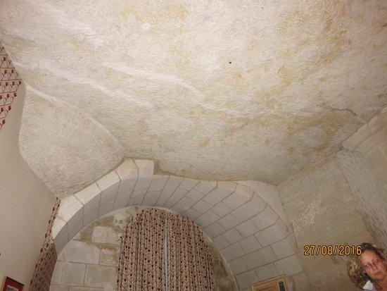 Rochecorbon, France : plafond chambre