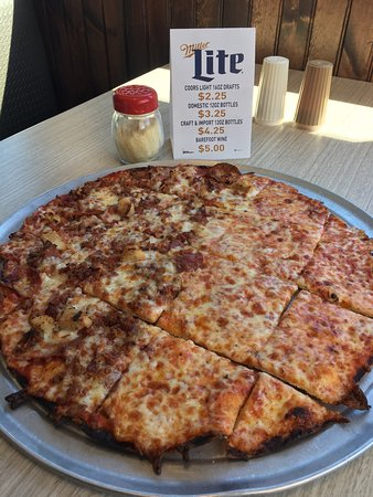 Cloverdale, IN: Ultra crispy crust pizza.