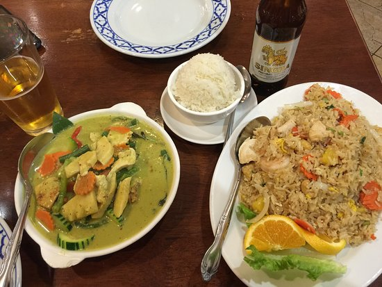Green Curry And Pineapple Fried Rice Picture Of Pacific Thai Santa
