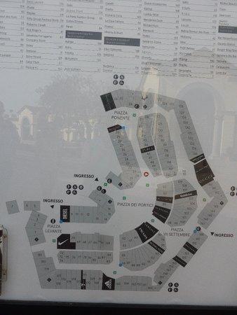 Mappa - Foto di Serravalle Designer Outlet, Serravalle Scrivia ...