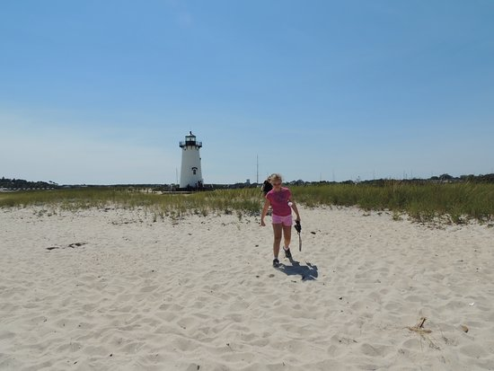 Edgartown Lighthouse: view from beach of the Lighthouse