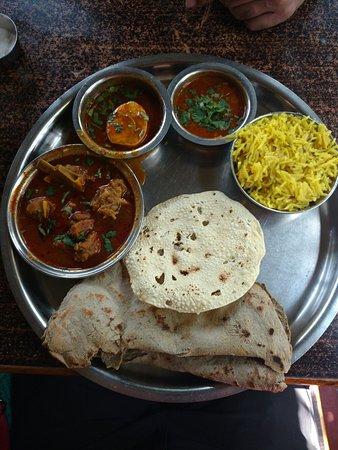 Mutton thali - Picture of Divtya Budhlya Wada, Nashik ...