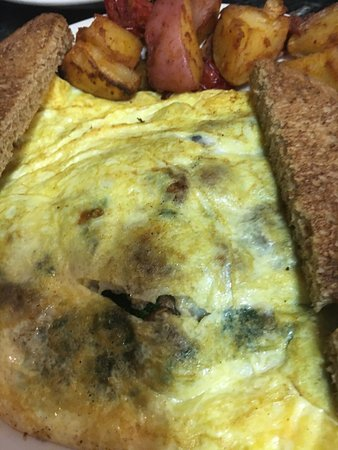 Annies: spinach mushroom omellette