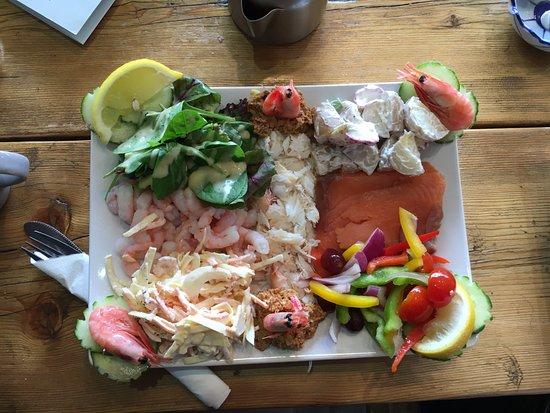 Claws Indoors: This dish contains salmon, crab and shrimps. Completely forgot what the menu title was.