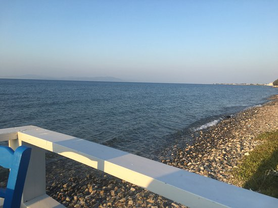 Hotel Iris: Dinner at Blue Ocean restaurant, Psalidi
