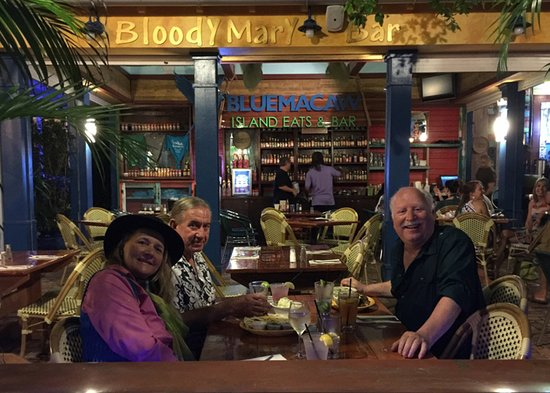 Key West Sailing Adventure: Ronda and Captain Al take me to the Blue Macaw for a fun dinner.