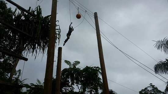 Kila Eco Adventure Park: Leap of faith attempt