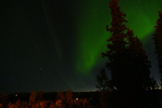 Pike's Waterfront Lodge: Northern lights from room