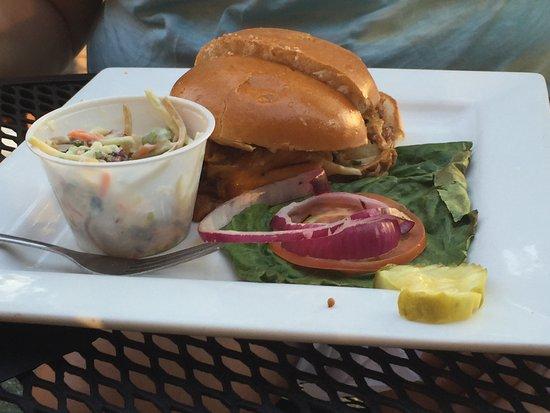 Boulder View Tavern: Pulled pork sandwich with slaw.