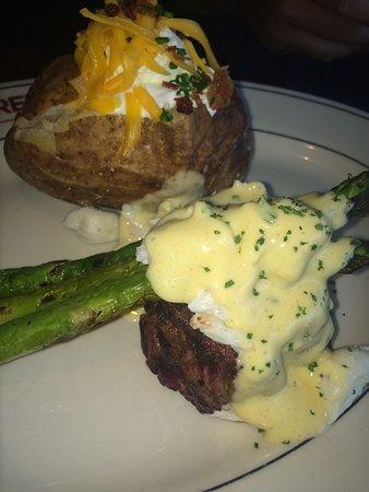 J. Alexander's Restaurant: Oscar-style filet with lump crab meat, asparagus, and Bernaise sauce