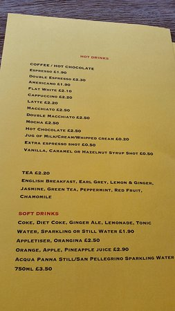 Morning drink menu - Picture of COCO Mini Brasserie, St