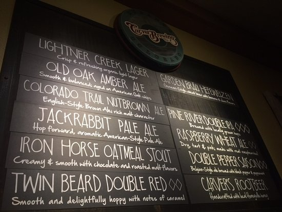 Carver Brewing Co.: Craft Brew Choices