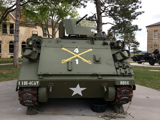 Fort Riley, KS: Vehicles from many wars are on display at Ft Riley