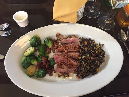Depot Grill: Perfect Duck with Brussel Sprouts and Wild Rice