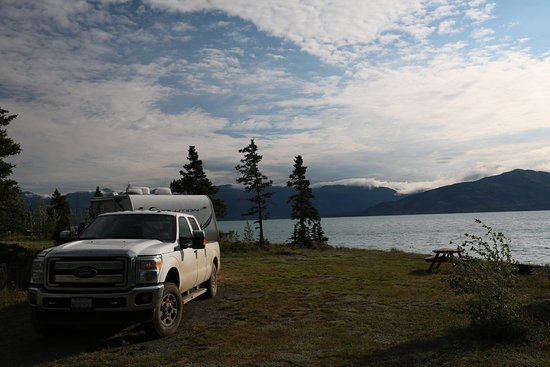 Destruction Bay, Canada: The best campsite ever!