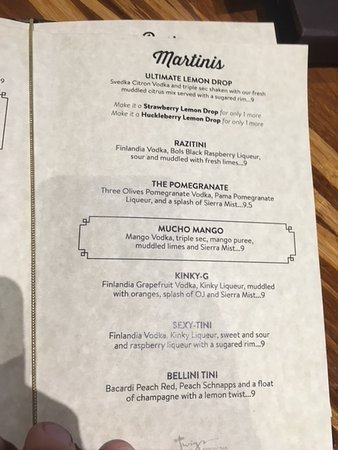 Union Gap, Waszyngton: menu at Twigs