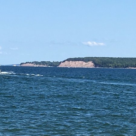 Sodus Point Beach Park - view of the bluffs state park