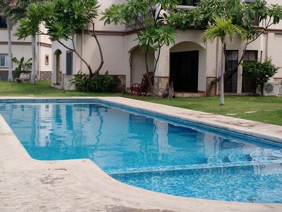 Hacienda Iguana: piscina da casa alugada (semi privada)