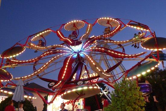Funland Rides At Night
