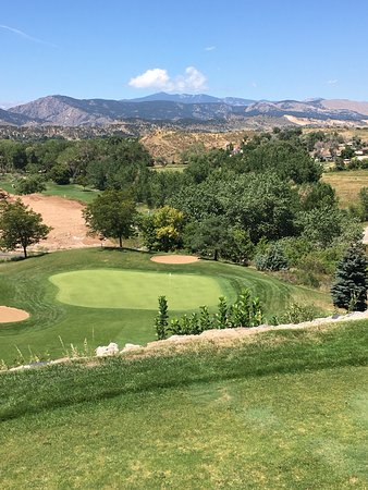 Mariana Butte Golf Course: Par 3, #14,wedge straight down