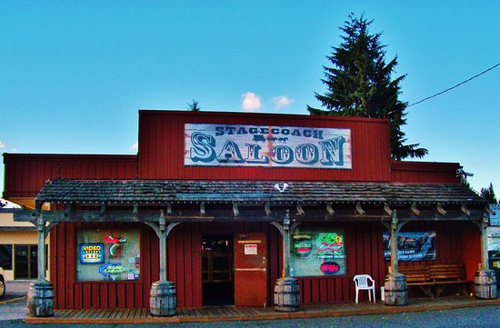 ‪‪Fairview‬, ‪Oregon‬: straigh on view of the Stagecoach Saloon from the street‬